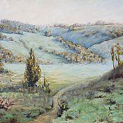Картины и панно handmade. Livemaster - original item Oil painting landscape Morning mist. Handmade.
