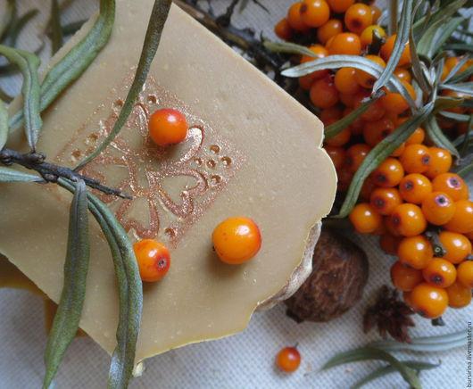 Мыло ручной работы. Ярмарка Мастеров - ручная работа. Купить Морковное натуральное мыло с маслом облепихи и моркови. Handmade. Рыжий