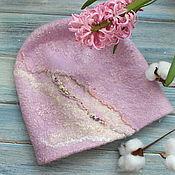 Аксессуары handmade. Livemaster - original item Felted Pink hyacinth beanie. Handmade.