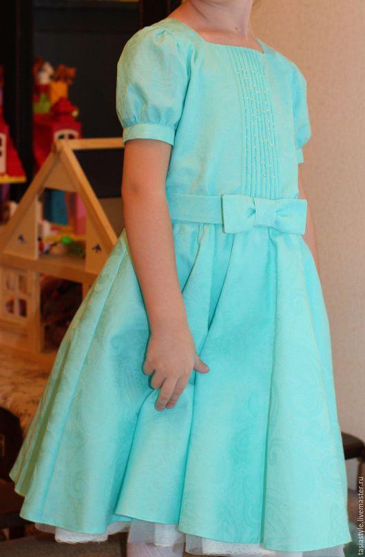 Одежда для девочек, ручной работы. Ярмарка Мастеров - ручная работа. Купить Нарядное платье для девочки ручной работы. Handmade. Бирюзовый