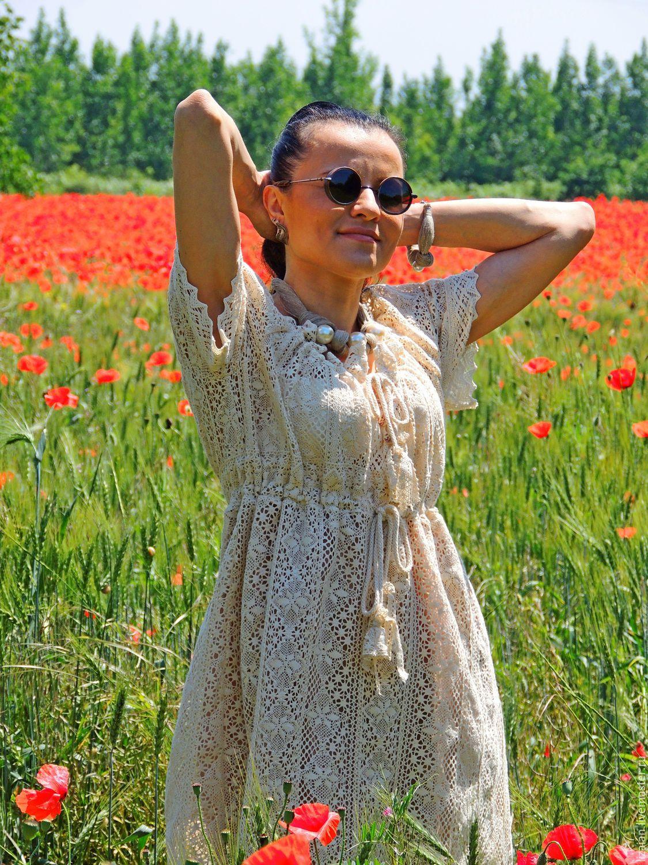 Платье бохо из кружева
