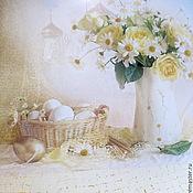 Подарки к праздникам ручной работы. Ярмарка Мастеров - ручная работа Тарелка под кулич Светлая Пасха , подарок пасхальный. Handmade.