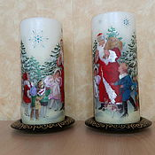 Сувениры и подарки handmade. Livemaster - original item Christmas candle with Santa Claus. Handmade.