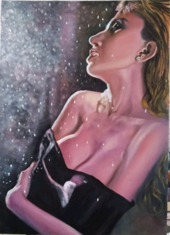 Девушка под дождем, Картины, Ростов-на-Дону,  Фото №1