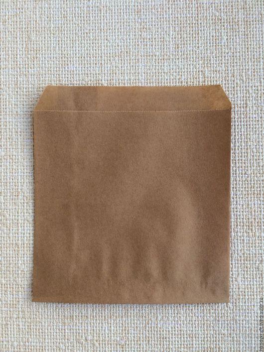 Упаковка ручной работы. Ярмарка Мастеров - ручная работа. Купить Крафт конверт без рисунка 14х14 см. Handmade. Коричневый