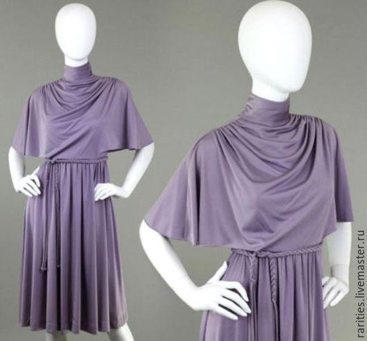 Одежда. Ярмарка Мастеров - ручная работа. Купить Платье Лавандовое,70ые годы,Gail Gray,США,полиэстер,винтажная одежда. Handmade.