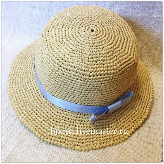 Шляпы ручной работы. Ярмарка Мастеров - ручная работа. Купить Соломенная шляпа на море. Handmade. Бежевый, соломенная шляпа