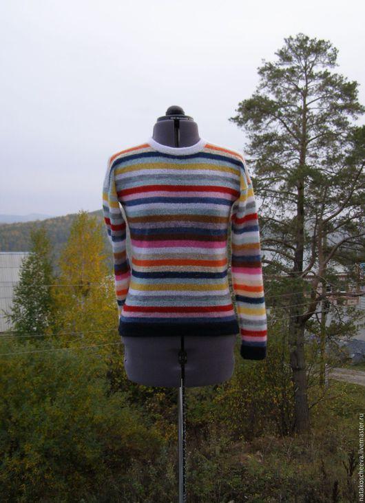 """Кофты и свитера ручной работы. Ярмарка Мастеров - ручная работа. Купить """"Создающий настроение"""" джемпер. Handmade. Комбинированный, вязаный, мохер"""