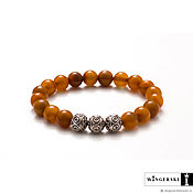 Украшения handmade. Livemaster - original item Bracelet Maze of illusions from Baltic amber with silver charms. Handmade.