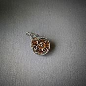 handmade. Livemaster - original item Wire wrap Ammonite pendant. Handmade.