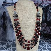 Украшения handmade. Livemaster - original item Carnelian and garnet necklace