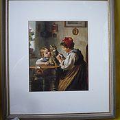 Картина винтажная, старинная, антикварная, Австрия/Германия