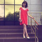 Одежда ручной работы. Ярмарка Мастеров - ручная работа Вязаное платье из хлопка. Handmade.