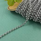 Материалы для творчества handmade. Livemaster - original item 1 m Rolo chain 3 mm stainless steel (5634). Handmade.