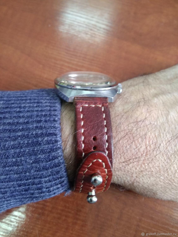 """Ремешок для часов """"АБРЕГО"""" кожаный"""
