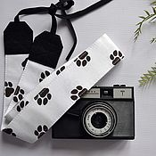 Аксессуары handmade. Livemaster - original item Strap for camera Paws, a gift to the photographer. Handmade.
