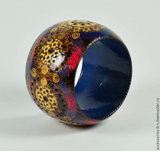 """Браслеты ручной работы. Ярмарка Мастеров - ручная работа. Купить Браслет деревянный """"Kaleidoscope """". Handmade. Разноцветный, украшение в подарок"""