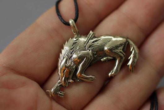 Волк, волк кулон купить украшение волки бронза подвеска с волком кулон авторские украшения фэнтези волк подарок