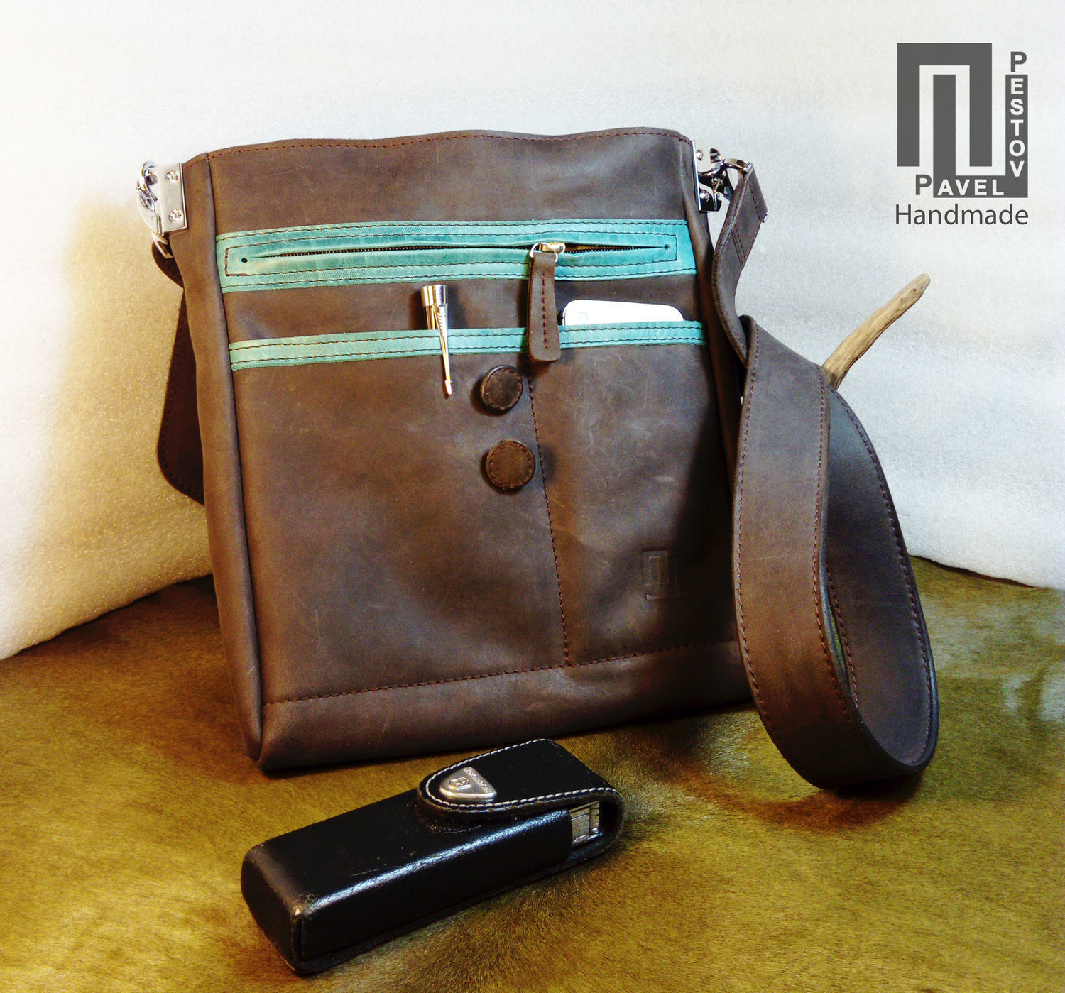 ded1510428e5 Men s Bags handmade. Bag mens  Envelope  button. Pavel Pestov - Handmade.