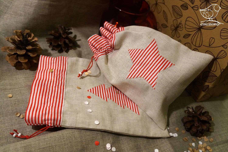 Мешочки для подарков новогодние подарки 47