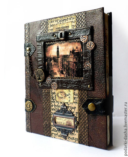 """Подарки для мужчин, ручной работы. Ярмарка Мастеров - ручная работа. Купить Коллекция, натуральная кожа """"Далекие времена""""- ежедневник, фоторамка. Handmade."""