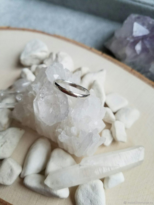 Простое обручальное кольцо из серебра 925 пробы, Кольца, Нижний Новгород,  Фото №1