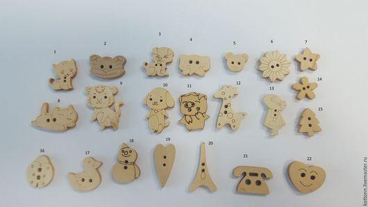 Куклы и игрушки ручной работы. Ярмарка Мастеров - ручная работа. Купить Пуговка деревянная натуральная. Handmade. Пуговицы, пуговицы декоративные
