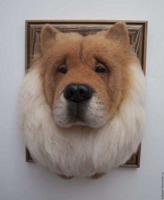 Животные ручной работы. Ярмарка Мастеров - ручная работа. Купить Панно собаки Чау-чау. Handmade. Рыжий, любителям собак