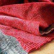 Материалы для творчества ручной работы. Ярмарка Мастеров - ручная работа Плюш Красный на серой основе. Handmade.