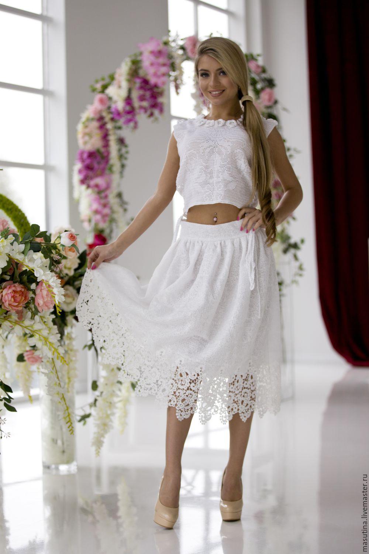 Кружевная юбка доставка