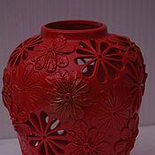 Для дома и интерьера ручной работы. Ярмарка Мастеров - ручная работа Ваза красная. Handmade.