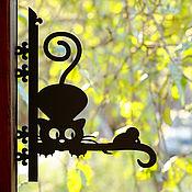 """Изделия ручной работы. Ярмарка Мастеров - ручная работа Кронштейн для цветов (кашпо) """"Кошка-мышка"""". Handmade."""