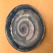 Посуда ручной работы. Ярмарка Мастеров - ручная работа Керамическая Тарелка ручной работы с узором. Handmade.
