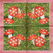 Материалы для творчества handmade. Livemaster - original item Napkins for decoupage forest mushrooms amanita. Handmade.