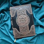 "Канцелярские товары handmade. Livemaster - original item Leather notebook ""BOOK OF MAGIC"". Handmade."