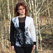 """Одежда ручной работы. Ярмарка Мастеров - ручная работа Жакет """"Черное и белое"""" - войлок. Handmade."""