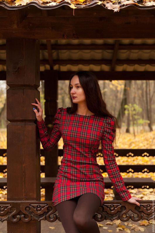 Платья ручной работы. Ярмарка Мастеров - ручная работа. Купить Платье в клетку 009. Handmade. В клеточку, платье повседневное