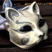 """Одежда ручной работы. Ярмарка Мастеров - ручная работа Карнавальная маска кот """"Миналуш"""". Handmade."""