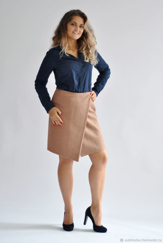 The skirt beige wool blend, Skirts, Novosibirsk, Фото №1