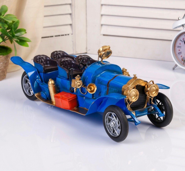 Ретро автомобиль без верха синий, Автомобильные сувениры, Москва,  Фото №1