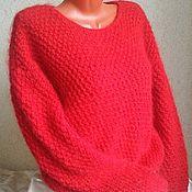 Одежда handmade. Livemaster - original item Warm red fluffy sweater handmade. Handmade.