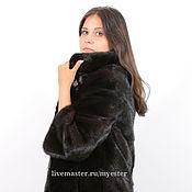 Одежда ручной работы. Ярмарка Мастеров - ручная работа Шуба из норки 75 см цвет черный. Handmade.
