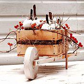 Цветы и флористика ручной работы. Ярмарка Мастеров - ручная работа Композиция Теплая Осень. Handmade.