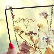 Для дома и интерьера handmade. Livemaster - original item the herbarium in the glass. Herbarium of flowers and herbs in a frame. Herbarium. Handmade.