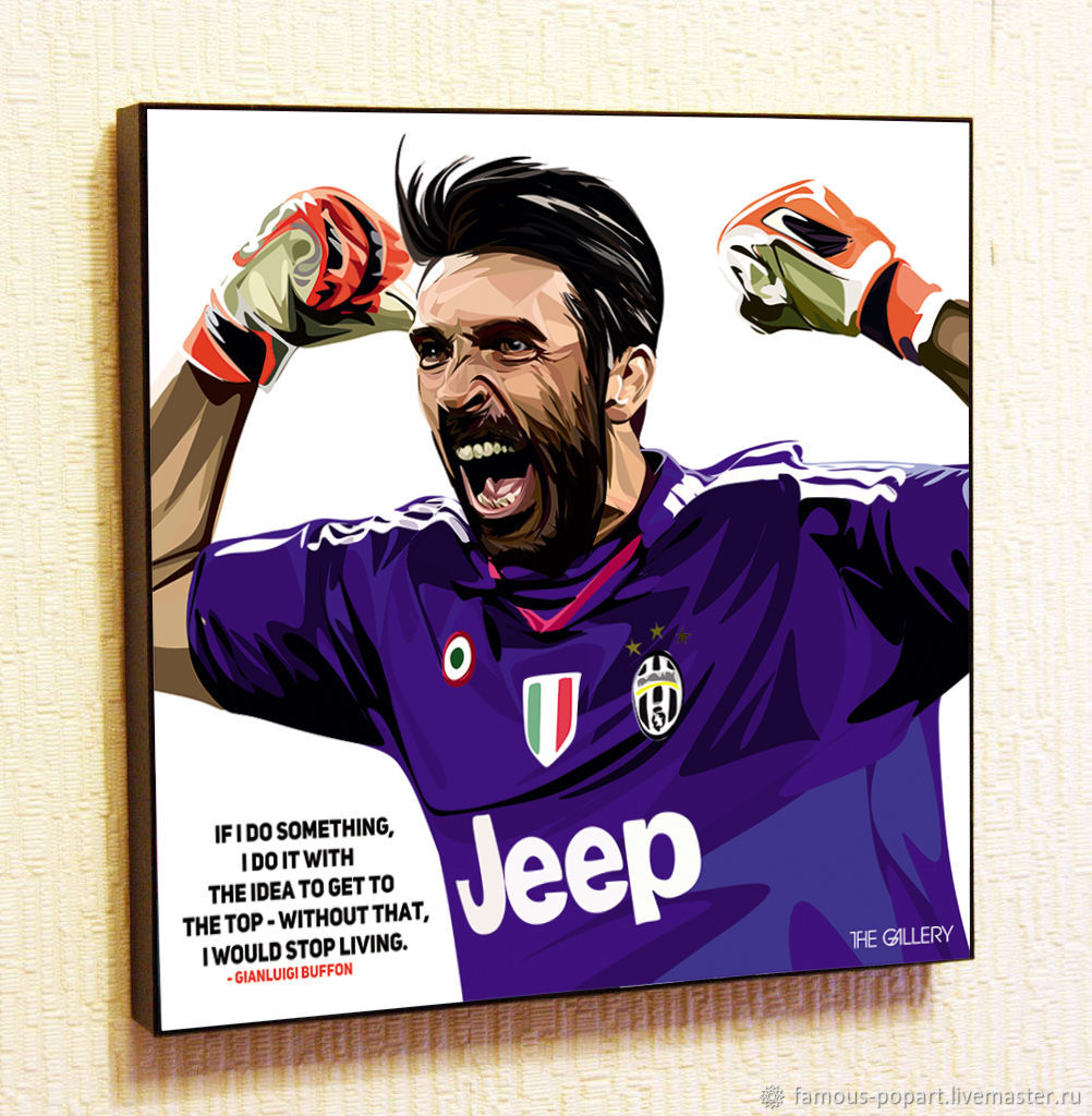 Painting Poster Pop Art Gianluigi Buffon, Pictures, Moscow,  Фото №1