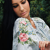 Одежда handmade. Livemaster - original item Unique embroidered blouse