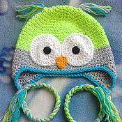 Работы для детей, ручной работы. Ярмарка Мастеров - ручная работа шапочка-сова для мальчика. Handmade.