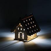 Сувениры и подарки handmade. Livemaster - original item New Year`s lamp house (silver).. Handmade.