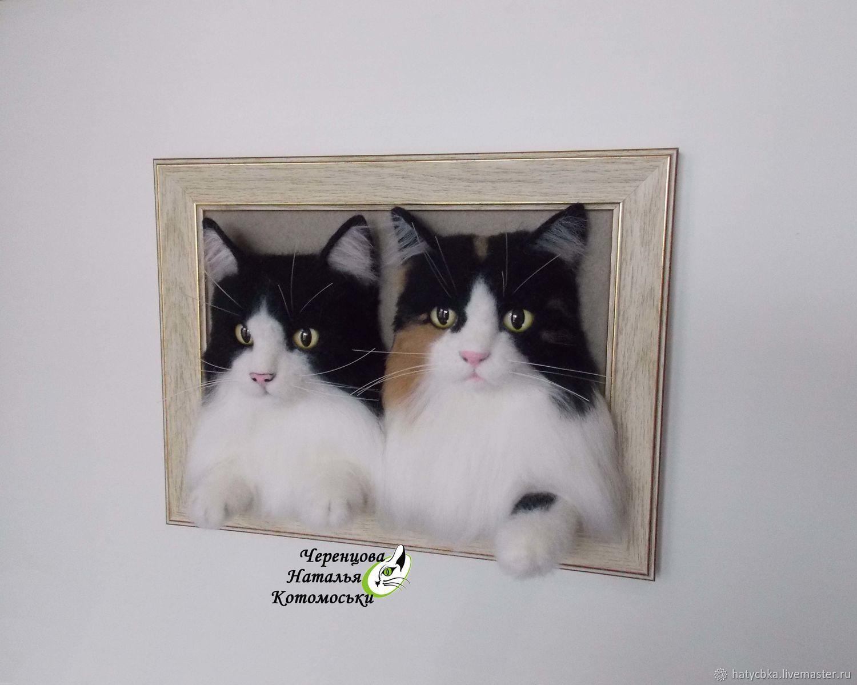 Портрет кота по фотографии, Панно, Рубцовск,  Фото №1
