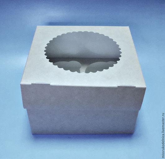 Упаковка ручной работы. Ярмарка Мастеров - ручная работа. Купить Коробка 16х16х10 с окошком. Handmade. Коробка, крафт-коробка, упаковка